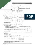 Problemas Soluciones Ecuaciones Segundo Grado