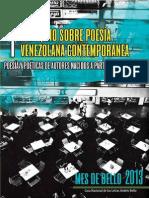 1er Coloquio sobre poesía venezolana contemporánea   Poesías y poéticas de autores nacidos a partir de 1970