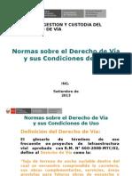 02 Normas Derecho de Vía y Su Condición de Uso Ing_ H_ Garr