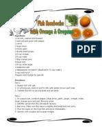 Fish Escabeche With Orange