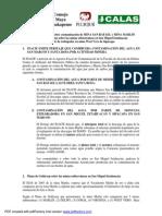 Comunicado 20 Nov 2014 Peritaje INACIF