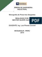 Monografia de La Presa 3 Gargantas