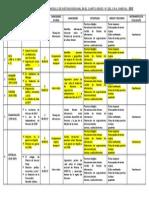 Cartel de Contenidos y Capacidades de Historia Regional Huánuco