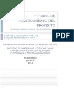 Perfil de Planteamiento Del Proyecto