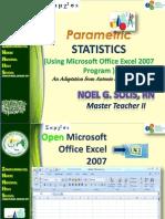 Parametric Stat Excel MS2007 Prez