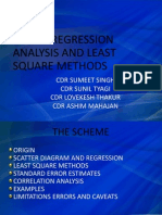 Linear Regression Analysis and Least Square Methods