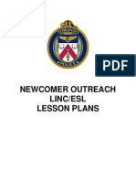 ESL Newcomer Outreach Lesson Plans