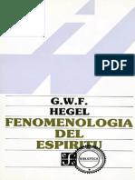 G. W. F. Hegel. Fenomenología del espíritu.