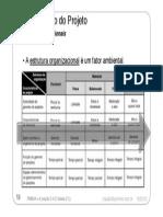 PMBOK 4 Estruturas Organizacionais