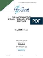 Dp Operator Certificate July 2012