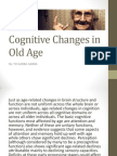Cognitive Changes in Old Age