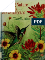 Claudia Nice Painting Nature in Pen and Ink With Watercolor