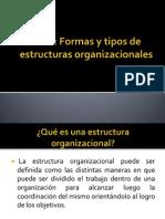 Exposicion Tipos de Estructuras Organizacionales