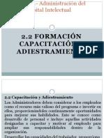 2.2 Formacion Capacitacion y Adiestramiento