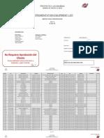 Listado de Equipos de Instrumentación