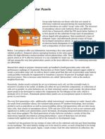 Ways to Develop Solar Panels