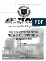 23 Nov 14 News Clippings