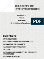 Durability of ConcreteDetail discrition of durability of concrete