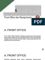 BAB 4 Front Office Dan Receptionist