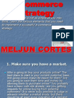 MELJUN CORTES E Commerce Strategy