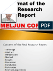 MELJUN CORTES Format the Research Reports
