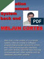 MELJUN CORTES MIS Back End