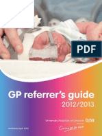 GP Referrers Guide Menu