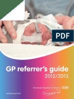 GP Referrers Guide Menu