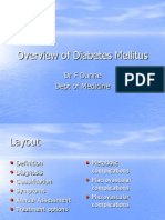 Overview of Diabetes Mellitus