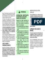 Nissan Maxima A33 2001 Notice Mode Emploi Manuel PDF