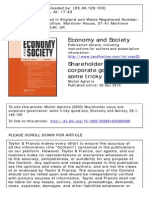 Aglietta, M. (2000). Shareholder value and corporate governance some tricky questions. Economy and Society, 29(1), 146-159..pdf