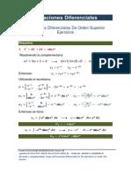 8. Ecuaciones Diferenciales de Orden Superior Ejercicios