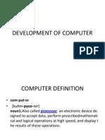 Development of Computer