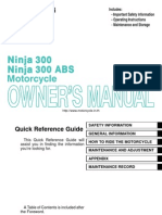Kawasaki Ninja 300 Owners Manual Eng