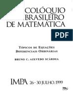 E.D.O - Colóquio Brasileiro de Matemática