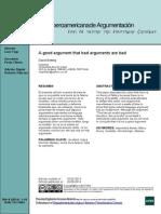 Revista Iberoamericana de Argumentación - A good argument that bad arguments are bad - David Botting