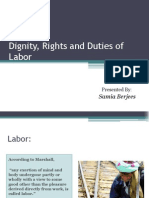Dignity, Rights and Duties of Labour