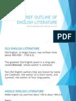 Brief Outline of English Literature
