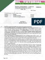 9th Sa-1 Original English Question Paper Cbse Board 2014-1
