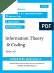 Ece-V Sem-Information Theory & Coding-unit1,2,3,4,5,6,7,8