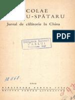 Nicolae Milescu Spatarul - Jurnal de calatorie in China