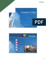 Changes of EBay