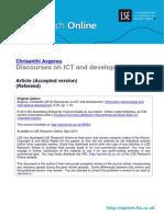 Discourses on ICT and Development