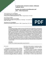 Relação Entre Alteração Da Dimensão Vertical de Oclusão e Dtm