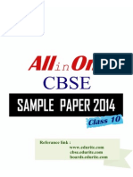 Cbse Class 10th Sample Papers and Syllabus 2014