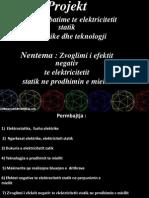 Fizika , Zvoglimi i efektit negativ  te elektricitetit  statik ne prodhimin e miellit