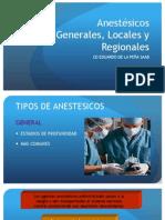 Anestesicos Locales Generalidades