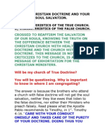 3the True Christian Doctrine and Your Soul Salvation