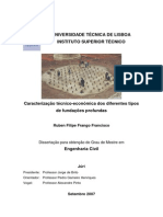 Caracterização Técnico-económica Dos Diferentes Tipos de Fundações Profundas