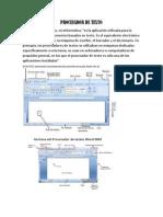 Procesador de Texto, Presentancion Digital y Hoja de Calculo